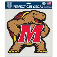 Maryland Terrapins Decal 8x8 Perfect Cut Color