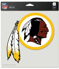 Washington Redskins Decal 8x8 Die Cut Color