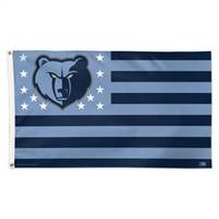 Memphis Grizzlies Flag 3x5 Deluxe Style Stars and Stripes Design - Special Order