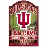 Indiana Hoosiers Sign 11x17 Wood Fan Cave Design
