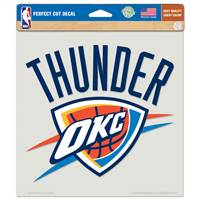 Oklahoma City Thunder Decal 8x8 Die Cut Color