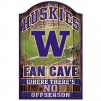 Washington Huskies Sign 11x17 Wood Fan Cave Design - Special Order
