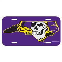 East Carolina Pirates License Plate Plastic Pirate State Logo Design