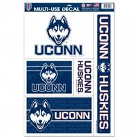 Connecticut Huskies Decal 11x17 Ultra