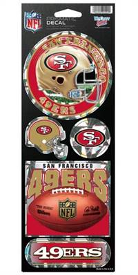 San Francisco 49ers Stickers Prismatic