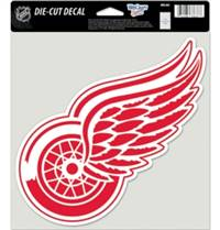 Detroit Red Wings Decal 8x8 Die Cut Color