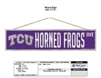 TCU Horned Frogs Sign 4x17 Wood Avenue Design