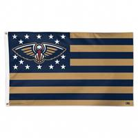 New Orleans Pelicans Flag 3x5 Deluxe Style Stars and Stripes Design - Special Order