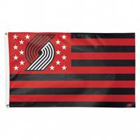 Portland Trail Blazers Flag 3x5 Deluxe Style Stars and Stripes Design - Special Order