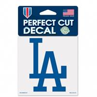 Los Angeles Dodgers Decal 4x4 Perfect Cut Color