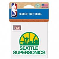 Seattle Sonics Decal 4x4 Perfect Cut Color