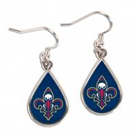 New Orleans Pelicans Earrings Tear Drop Style - Special Order