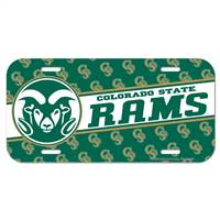 Colorado State Rams License Plate - Special Order