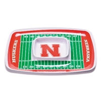 BSI Products Nebraska Cornhuskers Chip & Dip Tray