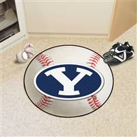 "Brigham Young University Baseball Mat 27"" diameter"