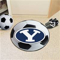 "Brigham Young University Soccer Ball Mat 27"" diameter"