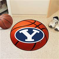 "Brigham Young BYU Cougars Basketball Rug 29"" diameter"