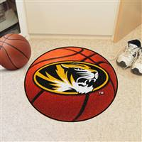 "Missouri Tigers Basketball Rug 29"" diameter"