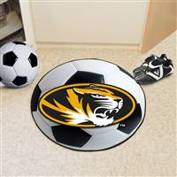 "University of Missouri Soccer Ball Mat 27"" diameter"