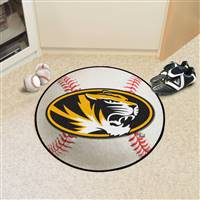 "Missouri Tigers Baseball Rug 29"" Diameter"
