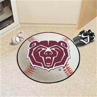 "Missouri State University Baseball Mat 27"" diameter"