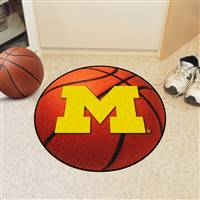 "Michigan Wolverines Basketball Rug 29"" Diameter"