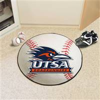 "University of Texas - San Antonio Baseball Mat 27"" diameter"