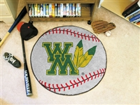 "College of William & Mary Baseball Rugs 29"" diameter"