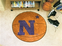 "US Naval Academy Basketball Rug 29"" diameter"
