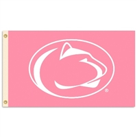 Penn State Nittany Lions 3 Ft. X 5 Ft. Flag W/Grommets - Pink Design
