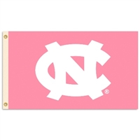 North Carolina Tar Heels 3 Ft. X 5 Ft. Flag W/Grommets - Pink Design