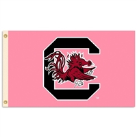 South Carolina Gamecocks 3 Ft. X 5 Ft. Flag W/Grommets - Pink Design