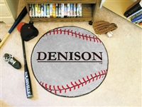 "Denison Baseball Rugs 29"" diameter"