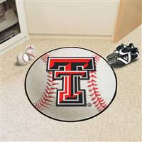 "Texas Tech Red Raiders Baseball Rug 29"" diameter"