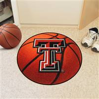 "Texas Tech Red Raiders Basketball Rug 29"" Diameter"