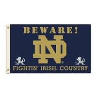 Notre Dame Fighting Irish 3 Ft. X 5 Ft. Flag W/Grommets - Country