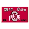 BSI Products Ohio State Buckeyes Man Cave 3 Ft. X 5 Ft. Flag