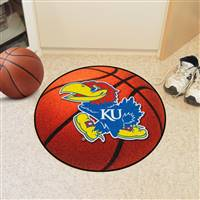 "Kansas Jayhawks Basketball Rug 29"" Diameter"