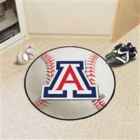 "Arizona Wildcats Baseball Rug 29"" diameter"