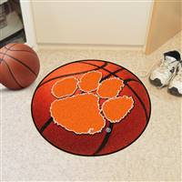 "Clemson Tigers Basketball Rug 29"" diameter"