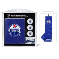 Edmonton Oilers Golf Gift Set with Embroidered Towel - Special Order