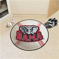 "Alabama Crimson Tide Mascot Baseball Rug 29"" Diameter"