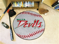 "Mississippi Valley State University Baseball Rug, 29"" Diameter"
