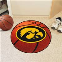 "University of Iowa Basketball Mat 27"" diameter"