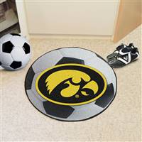 "University of Iowa Soccer Ball Mat 27"" diameter"