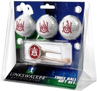 Alabama A&M University Bulldogs 3 Ball Gift Pack w/ Cap Tool