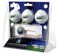 Akron Zips 3 Ball Gift Pack w/ Cap Tool