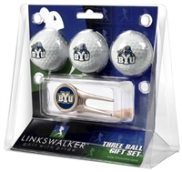 Brigham Young Cougars 3 Ball Gift Pack w/ Cap Tool