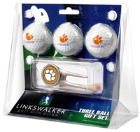 Clemson Tigers 3 Ball Gift Pack w/ Cap Tool
