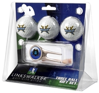 East Tennessee State Buccaneers 3 Ball Gift Pack w/ Cap Tool
